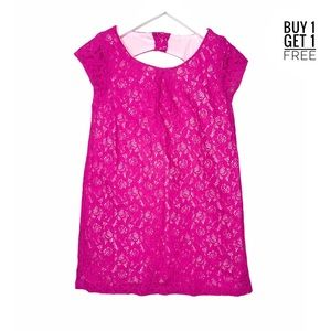 Gymboree All Dressed Up Girls Pink Lace Dress 6